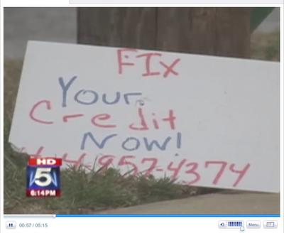 credit repair scam photo